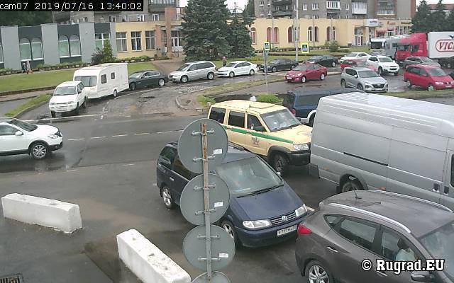 Веб-камера показывает границу Советск-Панемуне