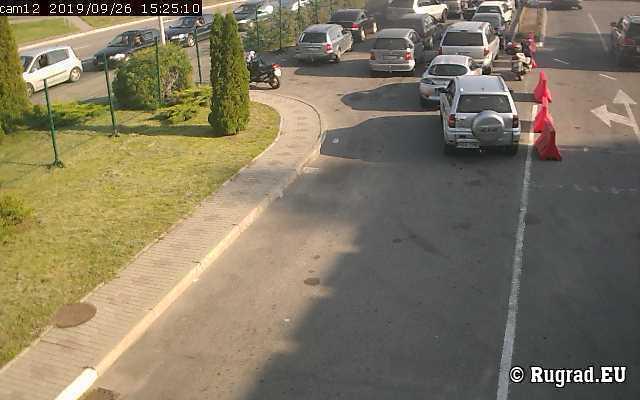 Веб-камера показывает границу Багратионовск-Безледы